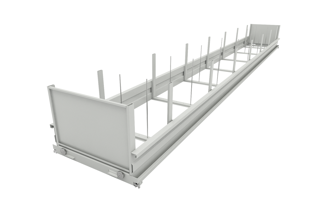 Tray with adjustable load stoppers